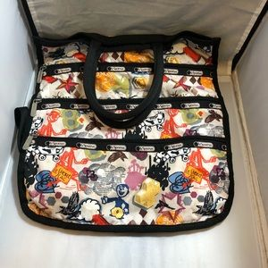 Lesportsac crossbody fold over travel bag
